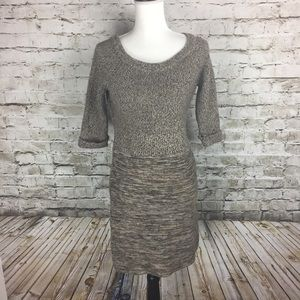 Maggy London brown sweater dress